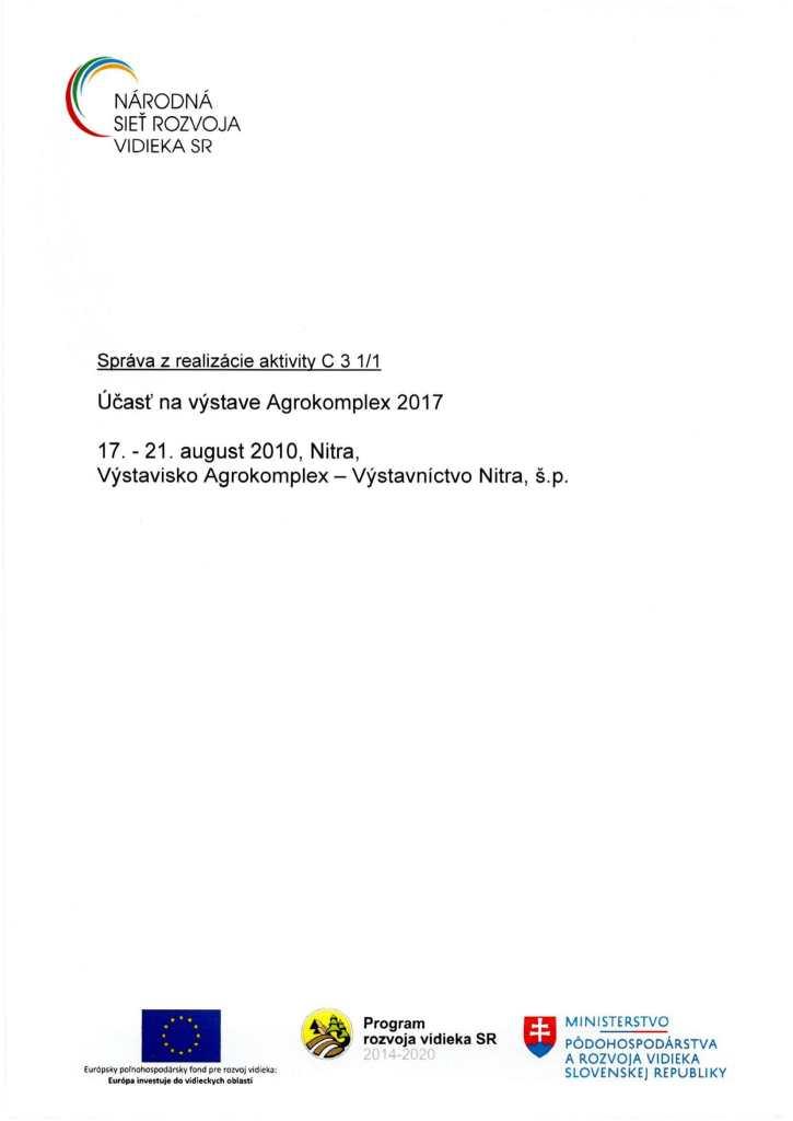 Správa C 3 1-1 ZA-1