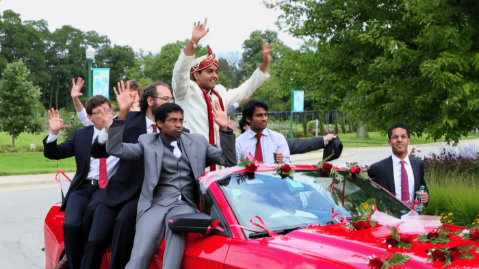 Indian Wedding groomsman entrance