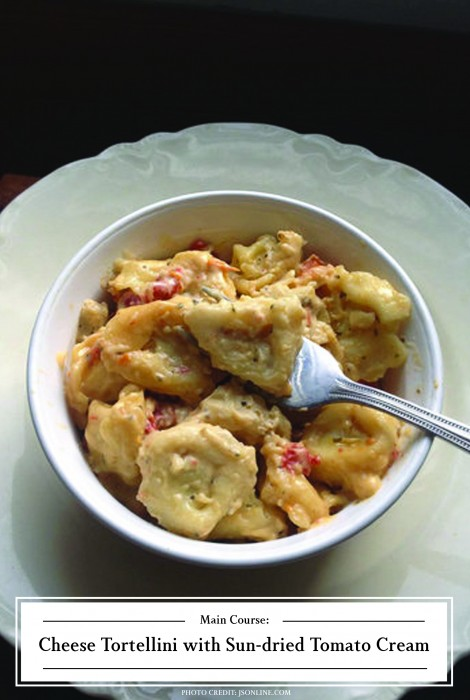 ZHG's Cheese Tortellini with Sun-dried Tomato Cream