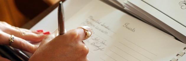 wedding guest list