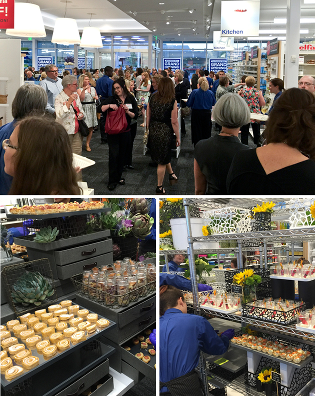 Preview Night at The Container Store with Creative Food Displays