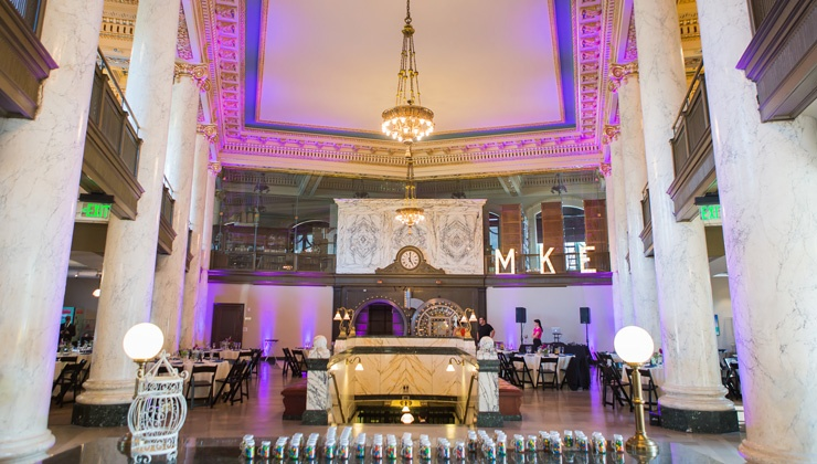 Wedding reception at Milwaukee County Historical Society