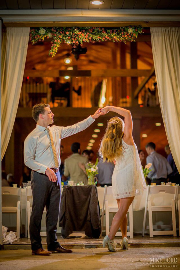 Dancing in Rustic Wedding Decor