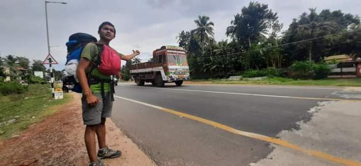 I was taking lift in varkala Kerala
