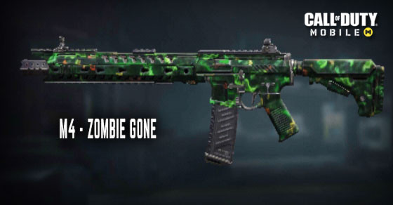 Call of Duty MobileのZombie Gone M4スキン。