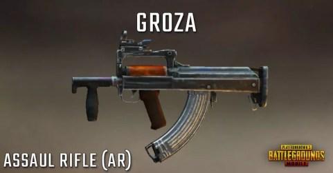 سلاح لعبة ببجي رشاش Groza