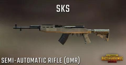 سلاح بندقية لعبة ببجي Sks