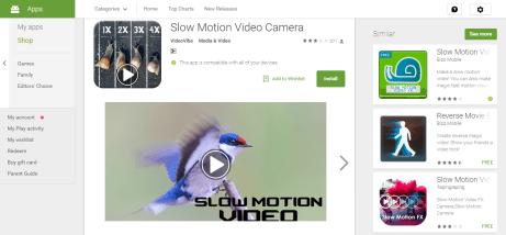 Slow Motion Video Camera