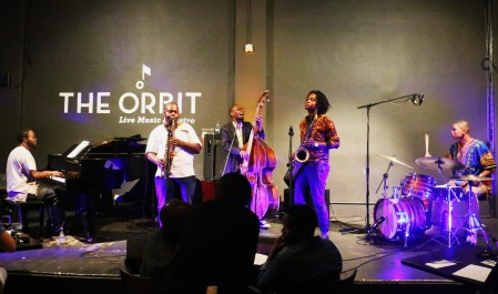 The Afrikan Time Ensemble performing at The Orbit on the 19th February.