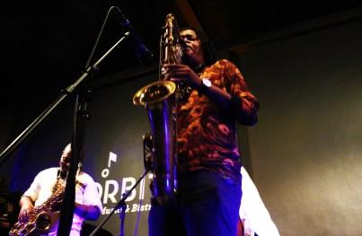 Tenor saxophone player Linda Sikhakhane