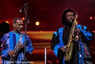 Kamasi Washington joined by his father at the Kippies stage at the 18th Cape Town International Jazz Festival