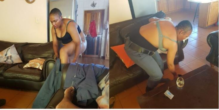 PICS : Bedroom Pictures Of A Married South African Police Woman At