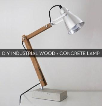 Industriedesignlampe mit Holz und Beton. Hier geht's zur Anleitung: http://bit.ly/12uOgJY