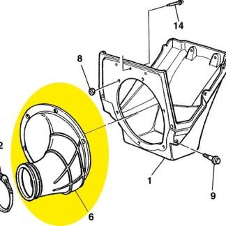 Tubulação do filtro de ar ao carburador Husqvarna WR 250 00-04