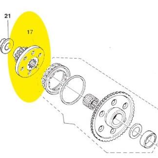 Engrenagem de partida Husqvarna TE 250 2004-2009