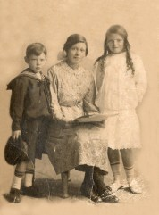 My paternal grandmother, centre and her siblings. A sense of belonging that comes from researching my family history gives me much pleasure. Photo: Leslie family archive.