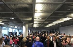Frankfurt Airport Security Lines travel to Italy