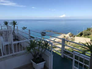 View from our room in Tropea Italy Touring Southern Italy