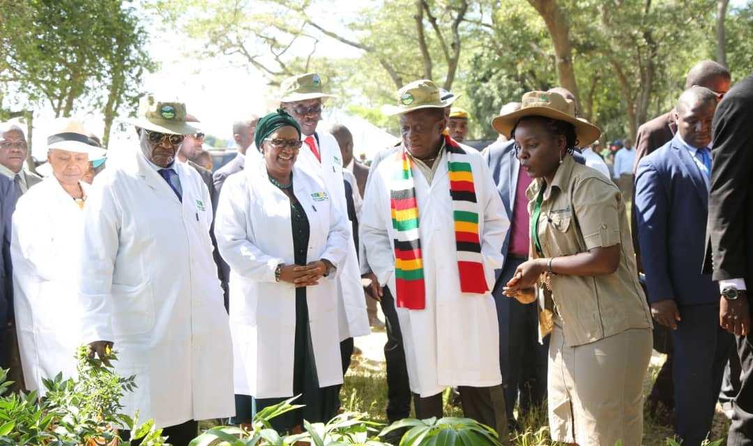 PICS: Mnangagwa, Chiwenga & Mohadi Lead Up Clean-Up Campaign At Lake Chivero