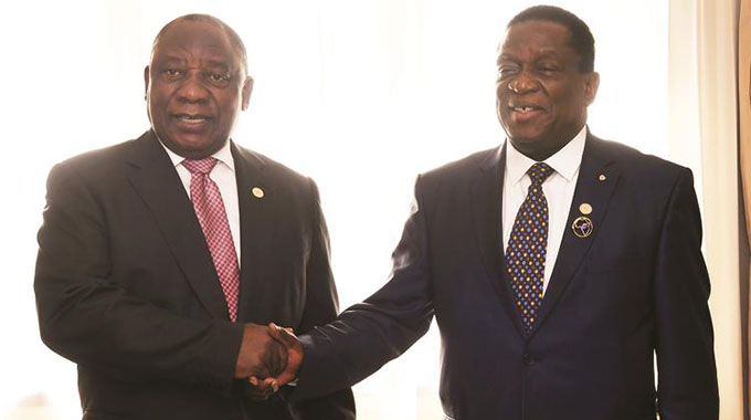 Mnangagwa, Ramaphosa discuss 'successes, challenges'