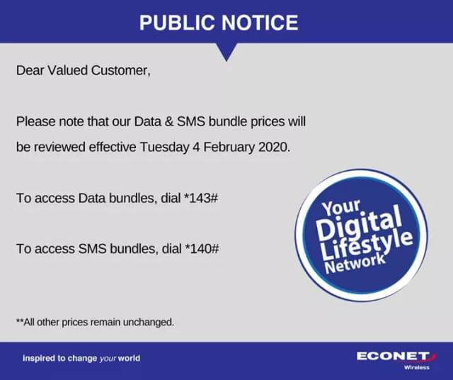 Econet Data Bundles To Go Up Again