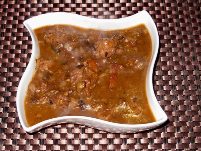 - Thüringer Schwarzbierfleisch - Schwarzbierfleisch - Gulasch - Bier - Schwarzbier - Haupgericht - Rezept - Winterküche - Herbstküche - einfach - Fleisch