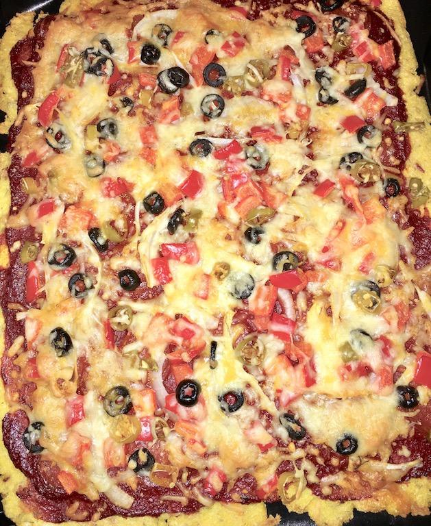 Rezepte: Hauptgerichte: Polentapizza gebacken - ganzes Blech