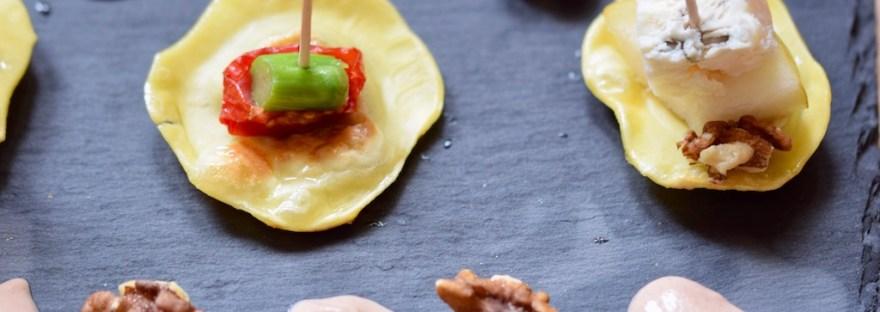 Rezepte: Kleinigkeiten: Maultaschen-Pintxos Variation