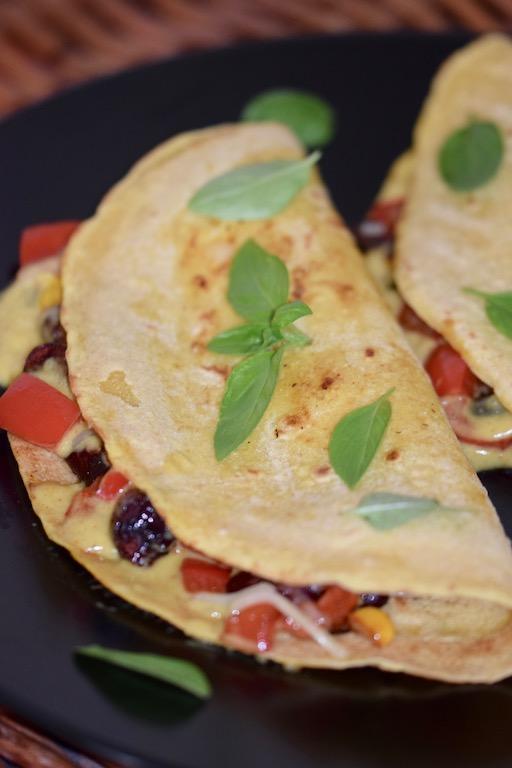 Rezepte: Hauptgerichte: Quesadillas - hochkant