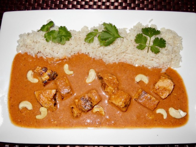 Indisches Butter-Chicken – Murgh Makhani - indisches Butter Huhn - indian butter chicken - butter chicken - Kokosmilch
