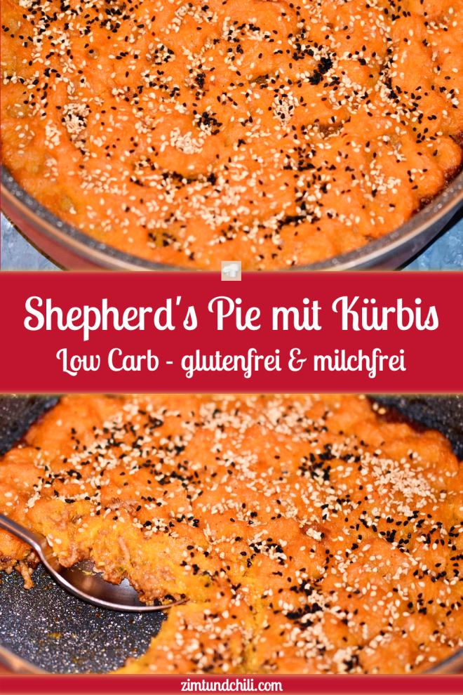 Shepherd's Pie mit Kürbis - Shepherd's Pie - Kürbis - ohne Kartoffeln - Rezept - Low Carb - milchfrei - glutenfrei - einfach - deutsch - clean eating - laktosefrei