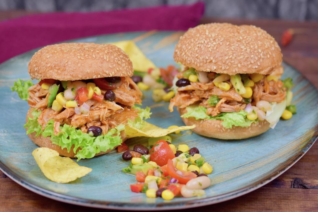 Pulled Pork Burger mexikanisch