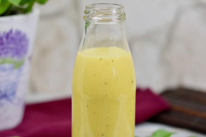 Honig-Senf-Dressing - Rezept - Dressing - Salatdressing - Salatsauce - schnell - einfach - ohne Essig - Salat - vegane Variante ohne Honig - Honig -Senf