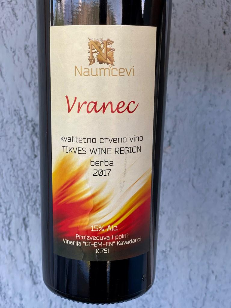 Essen und Trinkern in Mazedonien - Vranec-Weinflasche