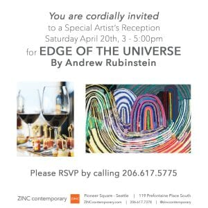 Artist Reception | EDGE OF THE UNIVERSE | Andrew Rubinstein