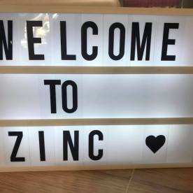 zinc home and gift light box