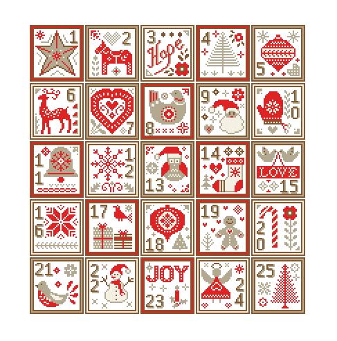 nordic christmas sampler cross