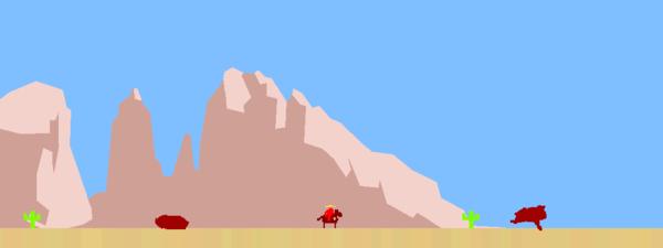 """Mark Essen, """"Cowboy Ana,"""" 2008, still image from 32-bit digital game. Via artist."""