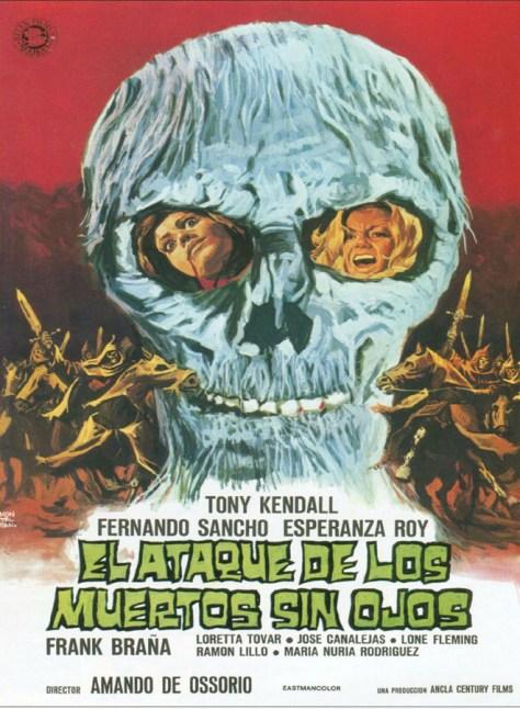 El ataque de los muertos sin ojos - poster