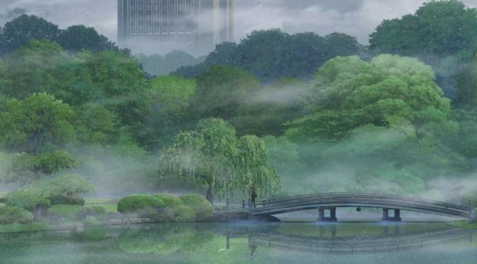 El jardín de las palabras (2013), sentimentalismo bajo la lluvia
