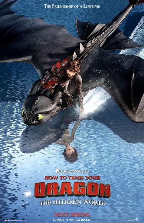 Cómo entrenar a tu dragón 3 - poster