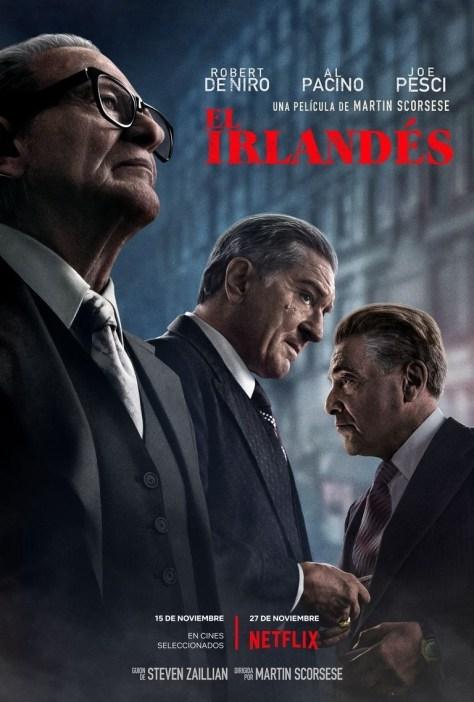Póster de la película El irlandés, de Martin Scorsese