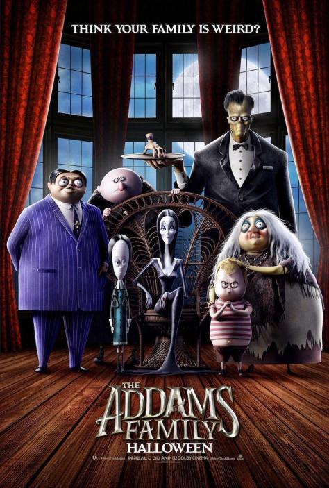 Cartel de la película La familia Addams de 2019
