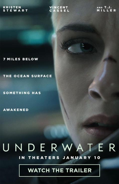 Cartel de la película Underwater, de 2020