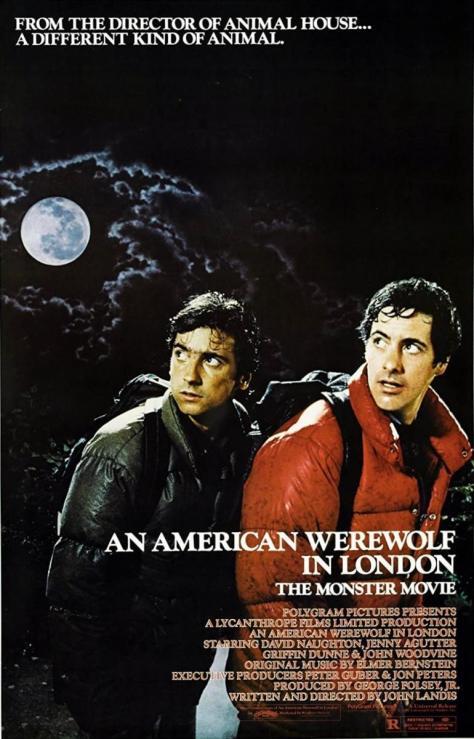 Cartel de la película Un hombre lobo americano en Londres