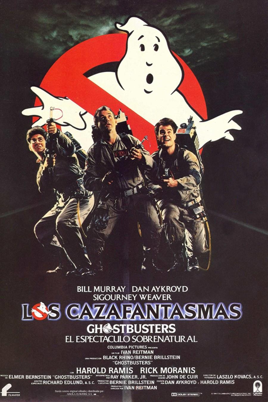 Cartel de Cazafantasmas, de 1984