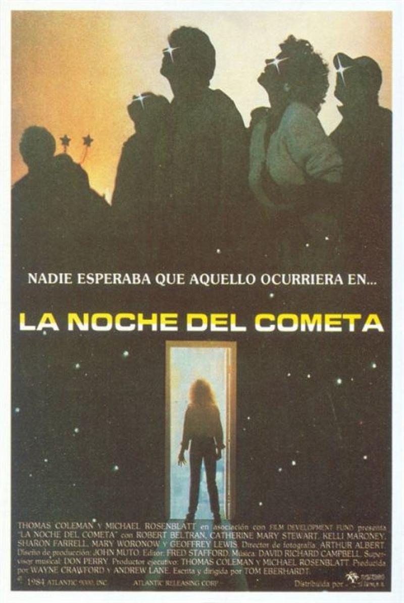 Cartel de La noche del cometa, de 1984
