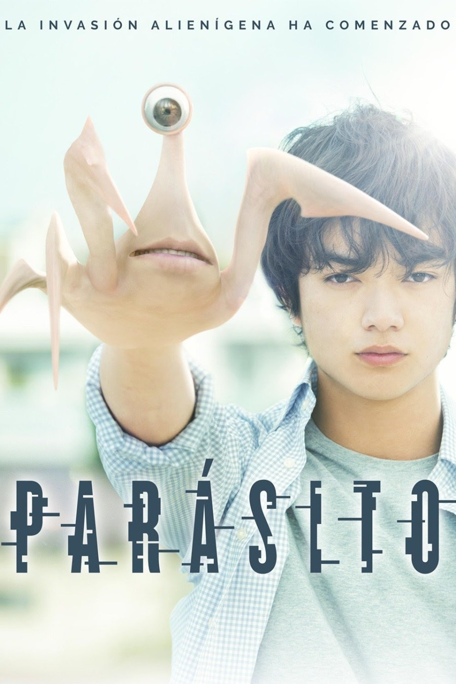 Cartel de la película Parásito, de 2014.