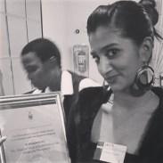 Prelene with the award