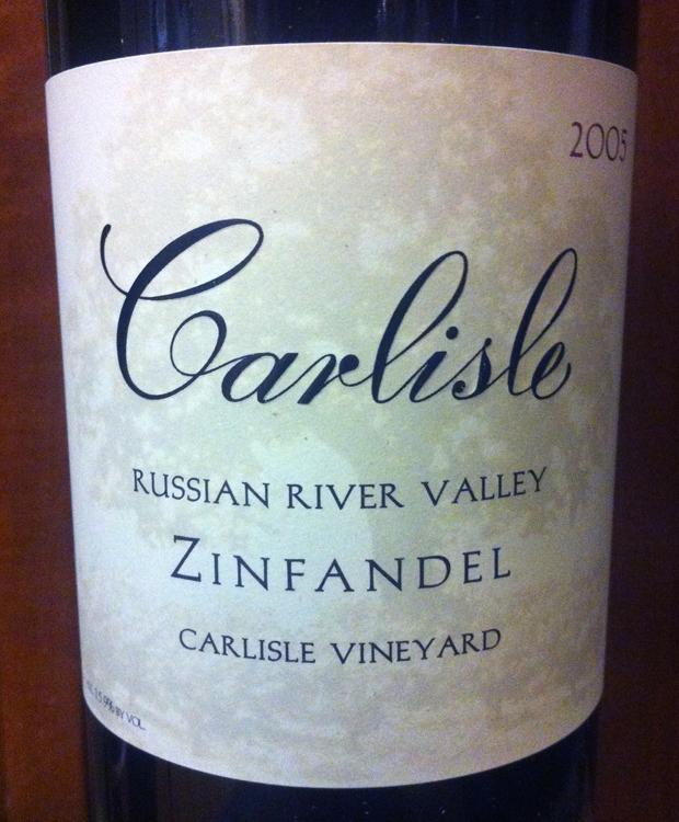 2005 Carlisle Russian River Valley Zin